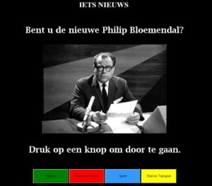 Are you as good a newscaster as the legendary Philip Bloemendal?