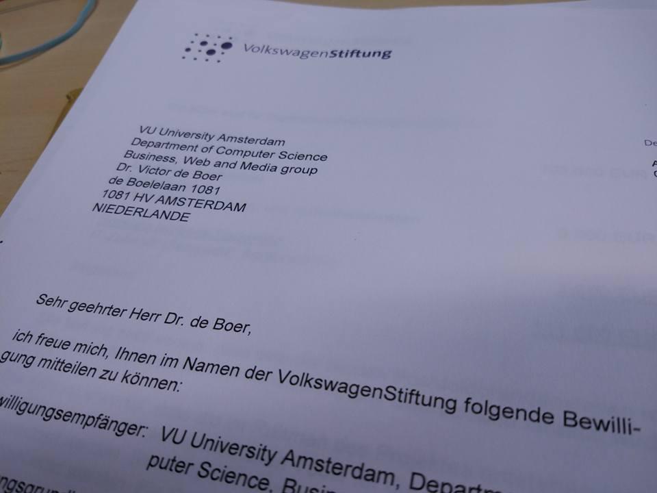 Volkswagen stiftung letter