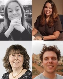 The ABC-Kb team, clockwise from top-left: Dana Hakman, Cerise Muller, Victor de Boer, Petra Bos