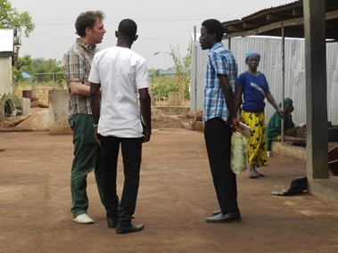 Francis and myself talking to a shea-butter guide